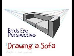 how to draw a sofa step by step perspective youtube