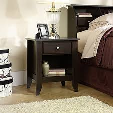 sauder shoal creek 1 drawer jamocha wood nightstand 409942 the