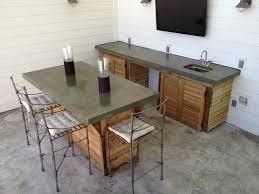 concrete top bar table custom outdoor bar concrete counter top concrete flooring