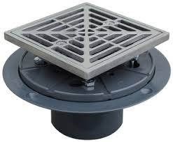 sioux chief pvc shower drain pan with stainless steel ring and