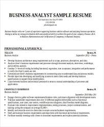 Resume Business Analyst Sample by Business Resume Sample Free U0026 Premium Templates