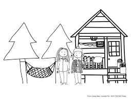 coloring pages from camp new humble pie movie kicks tv