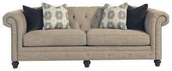 Pillow Back Sofas by Benchcraft Azlyn Transitional Chesterfield Sofa With Linen Blend