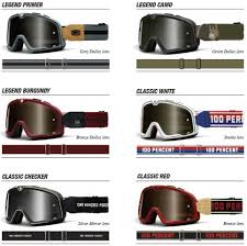 vintage motocross goggles all 6 design models of the classic barstow by 100 percent read