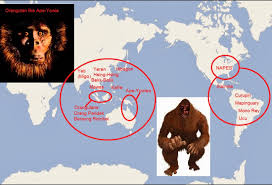 Bigfoot Sightings Map New Illuminati Yowie And Eastern Bigfoot The Solo Connection
