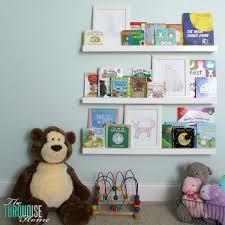 Wall Shelf For Kids Room by Diy Bookshelf Ledges For The Nursery The Turquoise Home