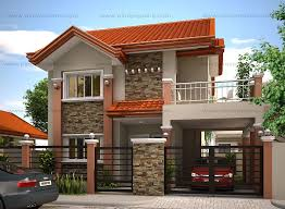 Floor Plan For 2 Storey House Modern House Designs Such As Mhd 2012004 Has 4 Bedrooms 2 Baths