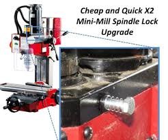 fraiseuse sieg x2 15 minute spindle lock upgrade for your x2 minimill milling