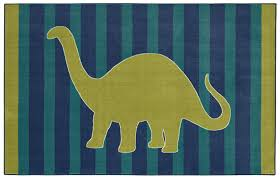 Mohawkhome Amazon Com Mohawk Home Aurora Friendly Dinosaur Striped Kids Area