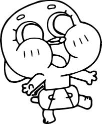 baby gumball walking coloring page wecoloringpage