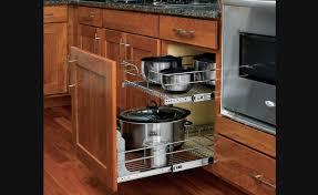 rangement de cuisine panier coulissant en fil chromé pour armoires de cuisine