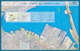 map port port of hamilton map hamilton ontario mappery