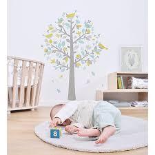 stickers arbre chambre bébé sticker enfant xl l arbre aux moineaux vert et bleu ma chambramoi