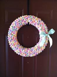 s candy hearts candy hearts wreath for v day my question is a how do you keep
