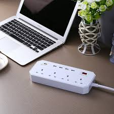 desk power outlet 4 usb controlled power strip electrical outlet with surge