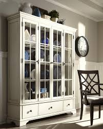 Klaussner International Monticello Curio Cabinet With Additional Drawer Storage And Paned
