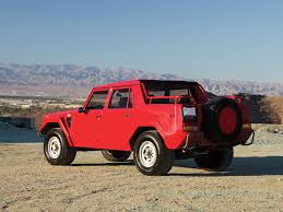 car lamborghini red immaculate 1989 lamborghini lm002 headed to auction u2013 news u2013 car