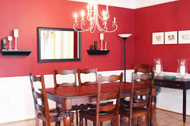 red accent dining room yellow candles extraordinary romantic