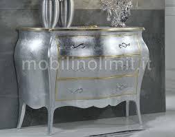 comodini foglia argento 3 cassetti foglia argento e oro