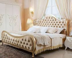 Modern Style Bed Beige Fabric Bed In Contemporary Style 44b150bd