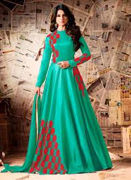 wedding wear dresses mugdha silk pista green wedding wear resham work anarkali style
