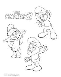 the smurfs coloring pages coloring home