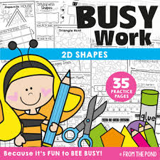 worksheet shapes range shapes worksheet packet busy work for 2d shapes by from the pond