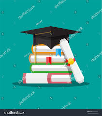 white rolled paper diploma scroll yellow stock illustration