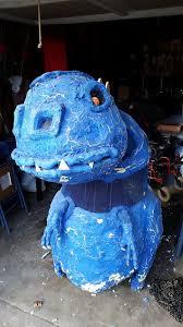 Blue Monster Halloween Costume Dad Builds Amazing Halloween Costumes Children Wheelchairs