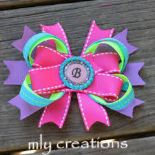 personalized bows shop monogrammed hair bows on wanelo