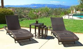 Noble House Outdoor Furniture by 43 Off On Outdoor Chaise Lounge Set 5 Pc Groupon Goods