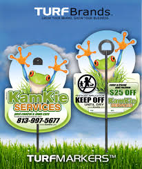 agro lawn pest control application signs lawn care posting signs