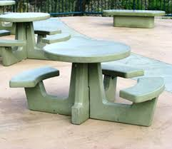 round cement picnic tables cement tables cement round picnic table