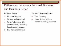 Business Letter Return Address personal business letter sop