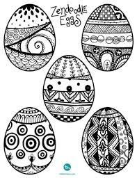 Decorating Easter Eggs With Sharpie Pens by Zendoodle Easter Egg Coloring Pages Easter Egg And Zentangle