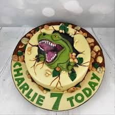 dinosaur birthday cake personalised t rex birthday cake design angie cakes