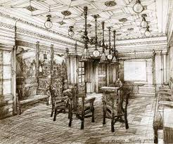 early sketch of the hungarian room nationality rooms