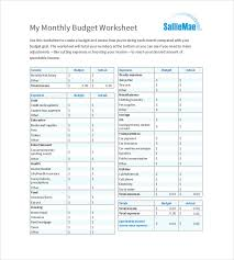 9 monthly budget templates u2013 free sample example format