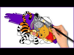 winnie pooh colouring book disney coloring pages