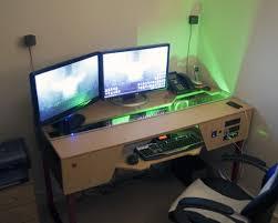 desk custom gaming desk elegant custom gaming desk plans