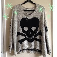 skull sweater skull sweater one size from s closet on poshmark