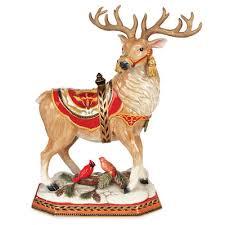 fitz and floyd damask deer figurine reviews wayfair