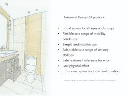 universal design concepts applied in a small guest bathroom