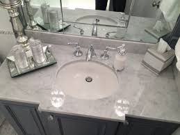 White  Silver Marble Bathroom - Silver bathroom