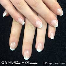 sculptured french round acrylic nails nails pinterest