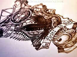 custom tattoo design dark design graphics