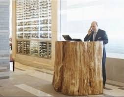 Wood Reception Desk Yew Seafood Bar At Four Seasons Vancouver Reception Desks