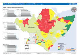 africa map 2014 horn of africa polio caign awareness map as of 11 aug 2014