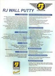 wall putty rj london professional paint