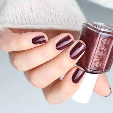 adorn your nails in a festive glistening bronzed mahogany nail
